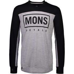 Mons Royale Redwood Enduro V-Neck LS Men black/grey marl